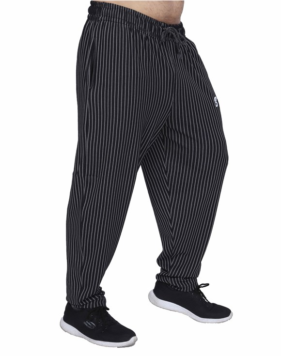 Stripped Baggy Body Pants 1193